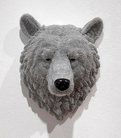 Bear, Courtney Timmermans, air rifle BBs, cast resin, mixed media