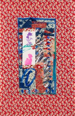 Abstract Collage, Japanese Washi Paper, Floral and Geometric Motifs, Tohoku VI