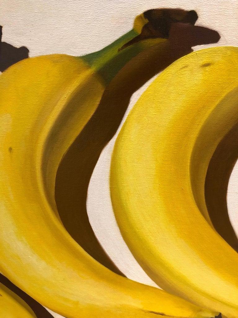 Banana Way, realistic original oil painting of bananas - Painting by Thaddeus Cutler