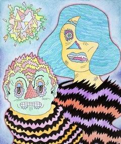 Marold and Haude, colorful cartoonish imagist portrait