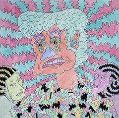 Pete's Dilemma, colorful cartoonish imagist portrait