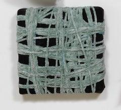 Genten/Color - Fabric and mixed media sculpture, neutral dark colors, textured