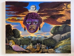 """""""Venus"""" Floating Human Head and Animals in Surrealist Forest"""