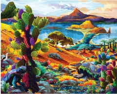 Galapagos - Original Oil on canvas painting by Redina Tili
