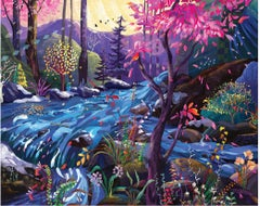 Stream of dreams - Original Oil on canvas painting by Redina Tili