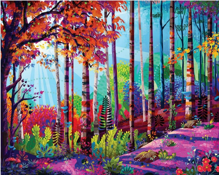 Woodland - Original Oil on canvas painting by Redina Tili - Painting by Redina Tily