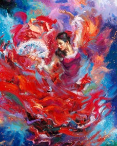 Flamenco - Original oil on canvas painting by Blend Cota