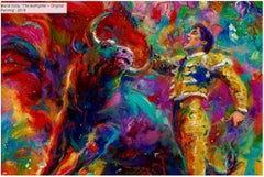 The Bullfighter - Original oil on canvas painting by Blend Cota