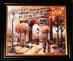 Arc De Triophe - Original oil on canvas painting by Redina Tily
