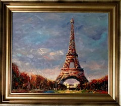 Eiffel Tower - Original oil on canvas painting by Redina Tily