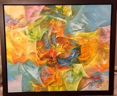 Genesis V - Original oil on canvas painting by Eduard Grossman
