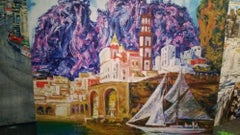 Coast of Sorrento - Oil on Canvas Painting by Alexander Evgrafov