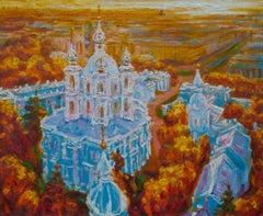 Smolny Evening - Original Oil on Canvas Painting by Alexander Evgrafov