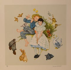 Four Ages of Love Suite 1 - Lithograph By Norman Rockwell