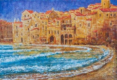 Northern Sicily - Original Oil on Canvas Painting by Alexander Evgrafov