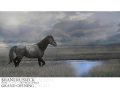 Shane Russeck Gallery Signed Exhibition Poster- Wild Mustang Show Los Angeles