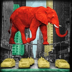 High in NY - RED - Limited Edition of 25 - Fine Art Print - coated by epoxy