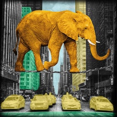 High in NY - ORANGE - Limited Edition of 25 - Fine Art Print - coated by epoxy