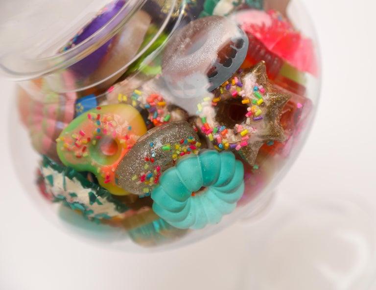 Donut Jar - Handmade Mini Resin Donuts in Glass Candy Jar / colorful  1