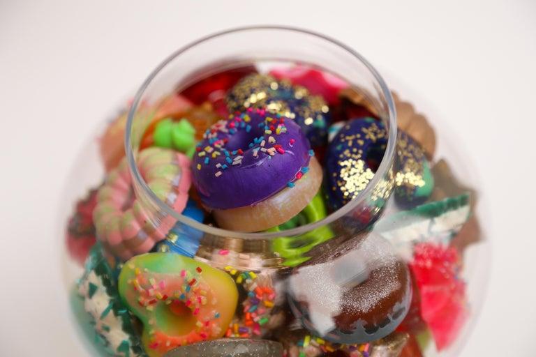 Donut Jar - Handmade Mini Resin Donuts in Glass Candy Jar / colorful  3