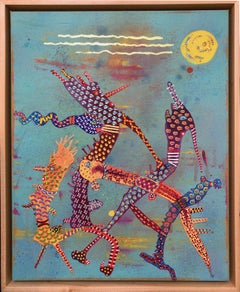 """Sun Festival""- Original Abstract Painting by Los Angeles artist Astrid Francis"