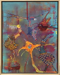 """""""Hangin'""""- Original Abstract Painting by Los Angeles artist Astrid Francis"""