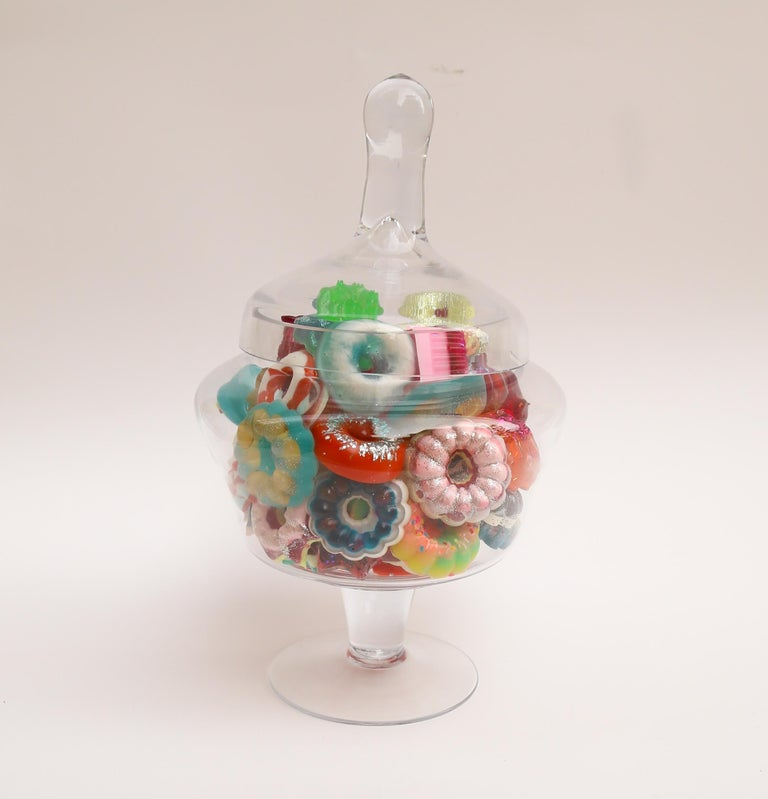 Donut Jar - Handmade Mini Resin Donuts in Glass Candy Jar / colorful  4