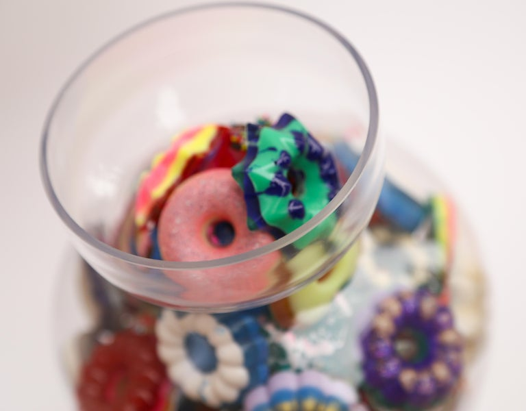 Donut Jar - Handmade Mini Resin Donuts in Glass Candy Jar / colorful  For Sale 4