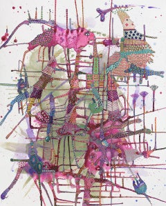 """""""Canyouseemenow""""- Original Abstract Painting by Astrid Francis - Bright Colors"""