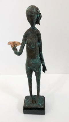 """Bird in Hand"" - Original Bronze Sculpture by Hadiya Finley"