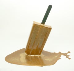 Solid Gold Popsicle - Original Resin Sculpture by Betsy Enzensberger