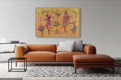 The Royals - Original Abstract Painting by Astrid Francis