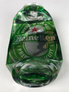 Heineken Crushed Can - Original Pop Art Resin Sculpture by Chris Bakay - Beer