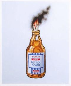 Tesco Value Petrol Bomb - Street Art, Urban. Graffiti, Contemporary