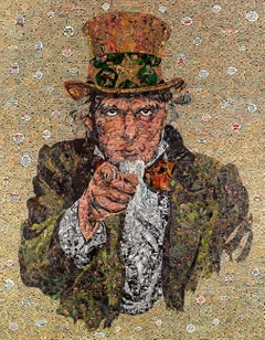 Uncle Sam - Pop Art, Contemporary, American Culture, Collage, Man
