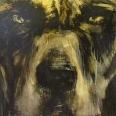 I've Left You For Dead - Dog, Canvas, Original, Painting, Contemporary, Animal