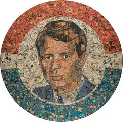 Bobby Kennedy - American Culture, Collage, Portrait, Pop Art, Contemporary