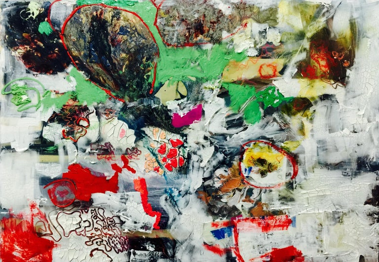 Jennifer McClish Abstract Painting - First Contact