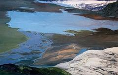 Glazier (Glacier) Jokulskarlon (landscape painting, Iceland)