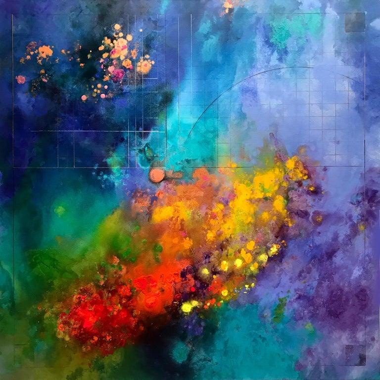 Diane Burko Landscape Painting - Coral Quartet 2