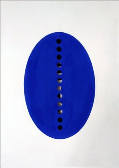 Untitled Indigo painting/ 3-D drawing on hand cut paper