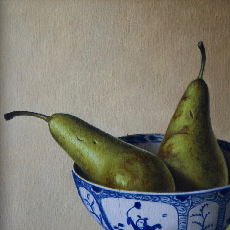Pears in Chinese Bowl For Sale 1