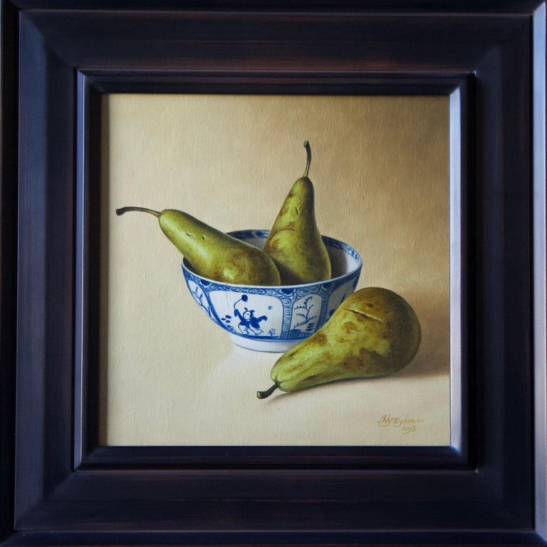 Stefaan Eyckmans Still-Life Painting - Pears in Chinese Bowl