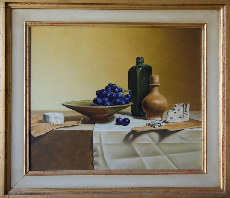 Stefaan Eyckmans Still-Life Painting - Grapes and French Cheese