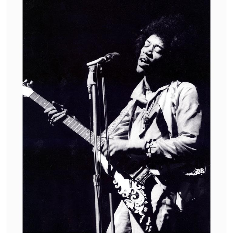 Jimi Hendrix Paris Olympia 1967 - Photograph by Christian Rose
