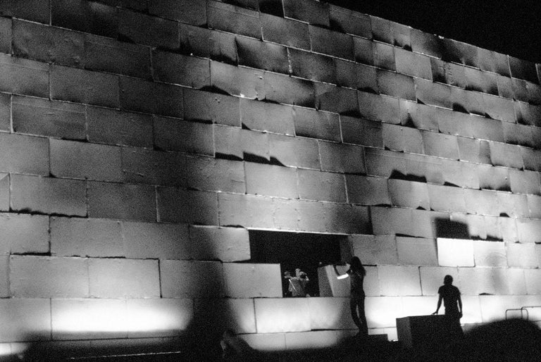 Patrick Gennevée was the only photographer during the progressive rock opera The Wall at Earls Court London U K Roger Waters had engaged a security system with German Shepherd dogs it was strictly forbidden to take pictures. Hence the rarity of