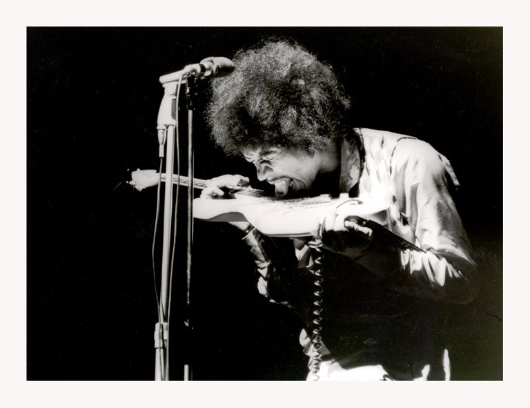Jimi Hendrix Paris Olympia 1967, Printed Later - Photograph by CHRISTIAN ROSE