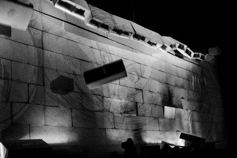 The Wall June 1981 at Earls Court London U K Pink Floyd (Triptych). - Photograph by Patrick Gennevée