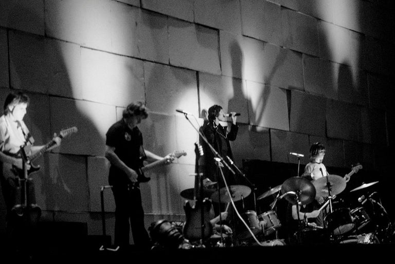 The Wall June 1981 at Earls Court London U K Pink Floyd (Triptych). - Black Black and White Photograph by Patrick Gennevée