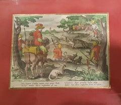Engraving Hunting: Hares Hunting With Cheetah